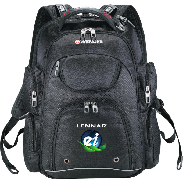 Imprinted Wenger (R)  Scan Smart Trek Compu-Backpack