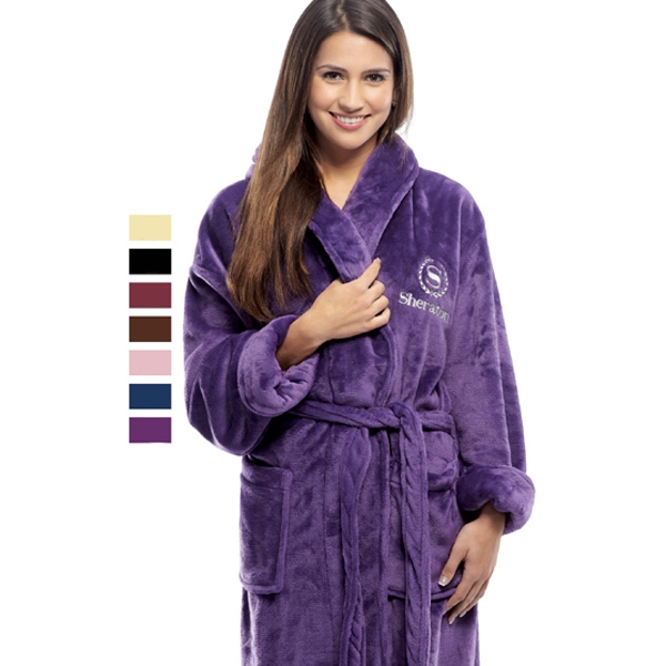 Personalized Tahoe Microfleece Shawl Collar Robe