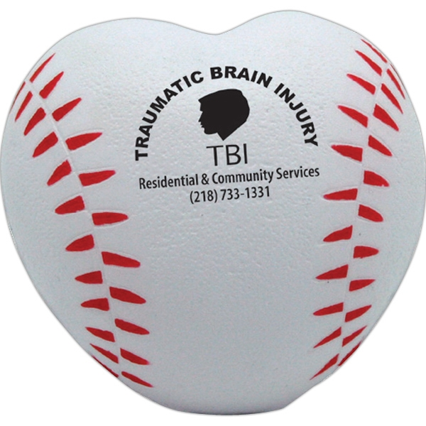 Customized Squeezies (R) baseball heart stress reliever