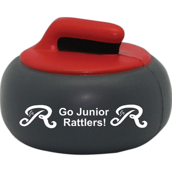 Personalized Squeezies (R) curling rock stress reliever