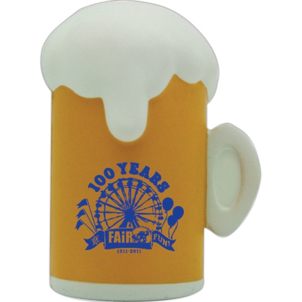 Personalized Squeezies (R) beer mug stress reliever