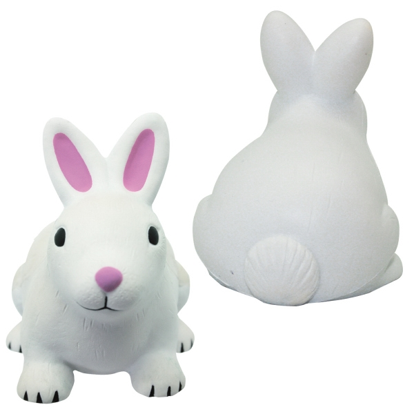 Imprinted Squeezies (R) rabbit stress reliever