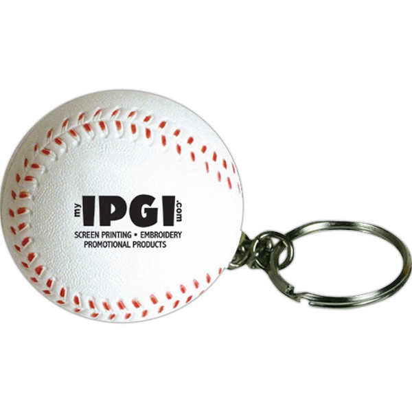 Customized Squeezies (R) baseball keyring stress reliever