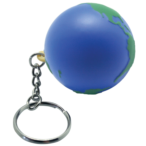 Imprinted Squeezies (R) Earth keyring stress reliever