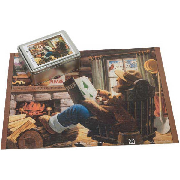 Printed Puzzle in a Two Piece Tin