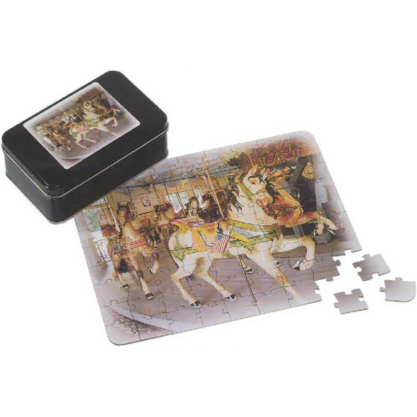 Customized Thirty-Five Piece Puzzle In Tin