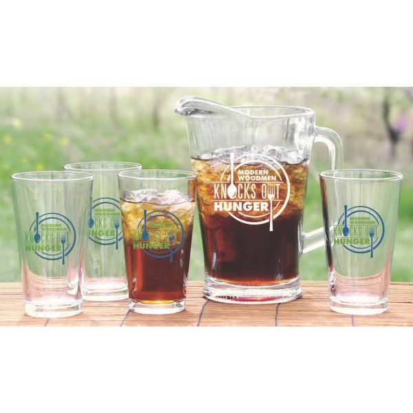 Imprinted Pitcher and pint set