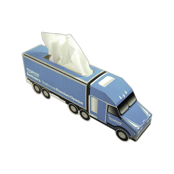 Customized Semi Truck Shaped Tissue Box