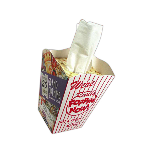 Printed Novelty Popcorn Tissue Tub