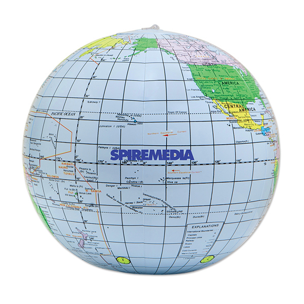 Printed Inflatable globe beach ball