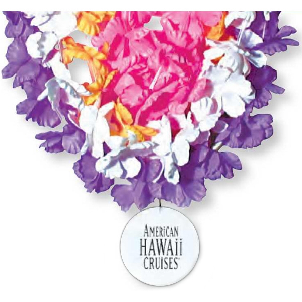Promotional Medallion flower lei