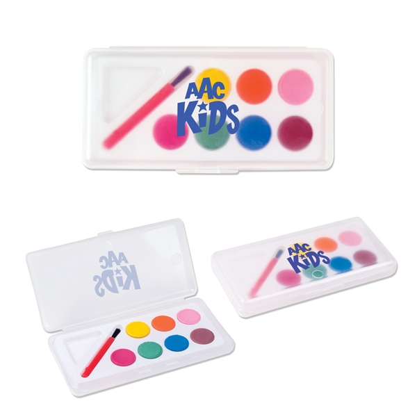 Imprinted Water Color Paint Set