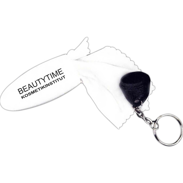 Printed Microfiber Screen Cleaner Keychain