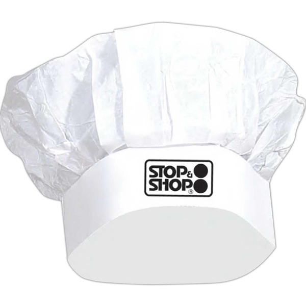 Printed White chef's hat