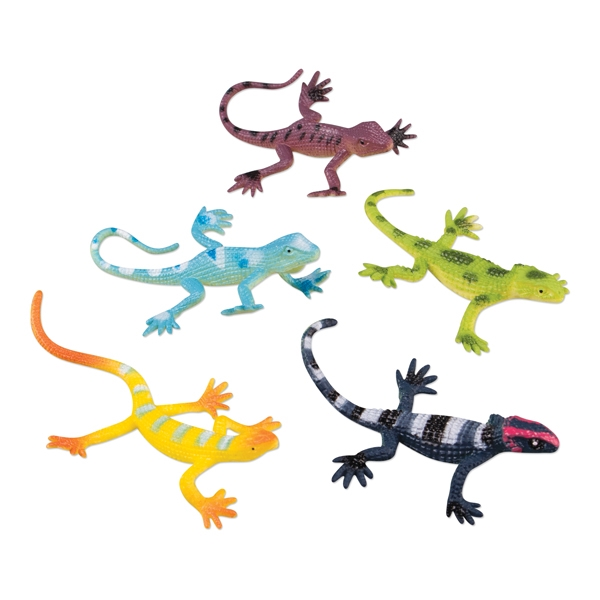 Imprinted Toy lizards