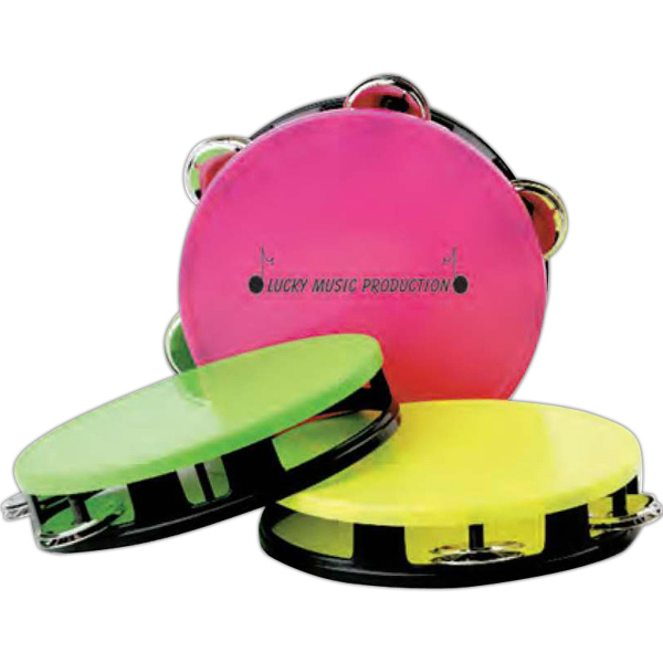 Imprinted Neon top tambourine