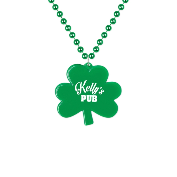 Imprinted Shamrock Shaped Medallion Necklace
