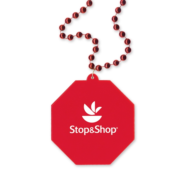 Custom Stop Sign Shaped Medallion Necklace