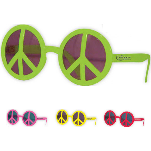Promotional Neon Peace Glasses