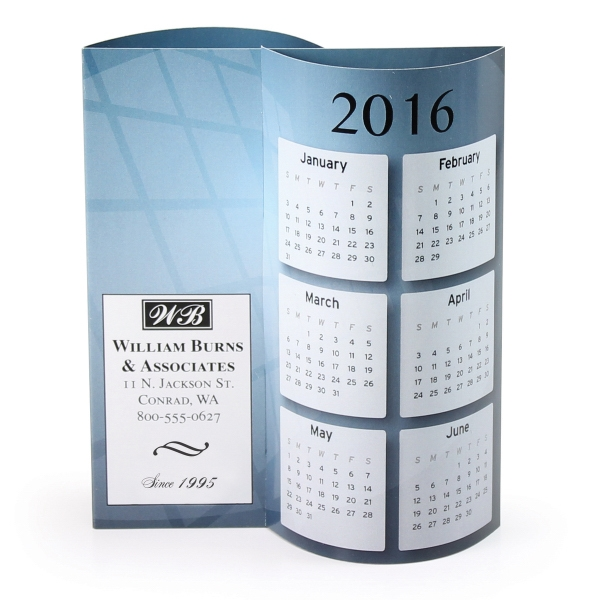 Printed Executive Wave Calendar
