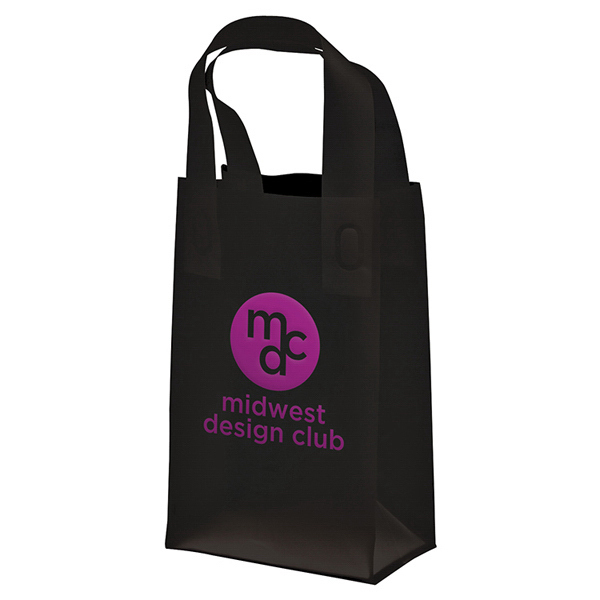 Personalized Soft Loop Frosted Shopper 1-Color Hot Stamp Foil