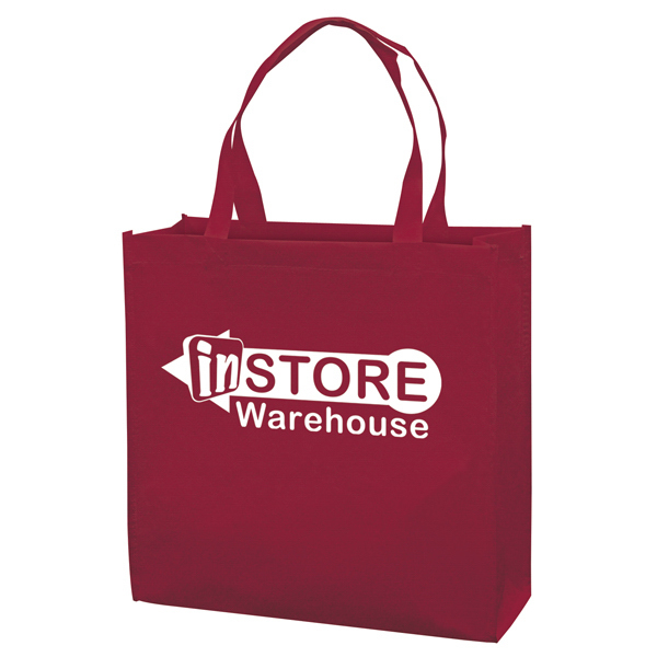 Personalized RPET Responsible Market Tote 1-Color Screen Print