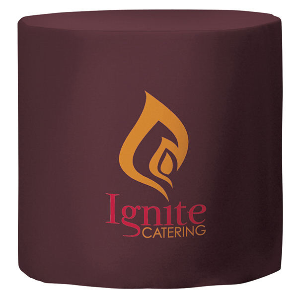 Custom Fitted Round Throw 2-Color Imprint