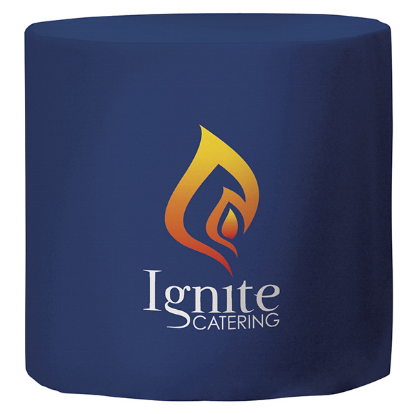 Customized Fitted Round Throw Full-Color Thermal Imprint