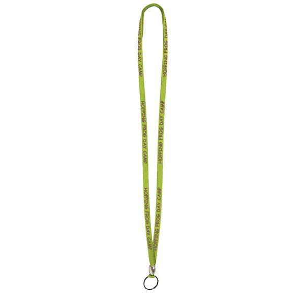 Promotional 3/8-inch Screen Printed Lanyard 1-Color Imprint, 1-Side