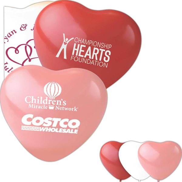 "Personalized 16"" Heart Latex Balloon"