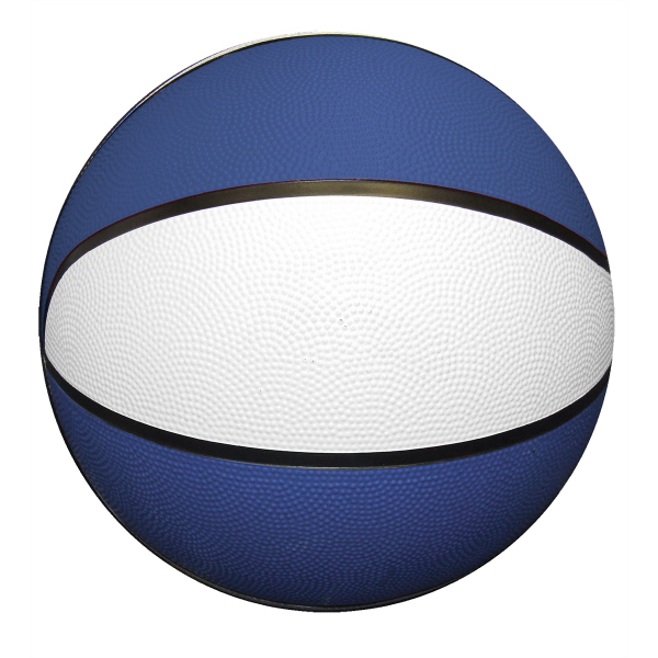 Imprinted Mini Rubber Basketball - Red, White Blue
