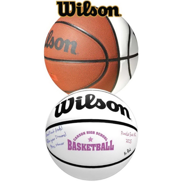 Custom Full Size Wilson (R) Signature Basketball