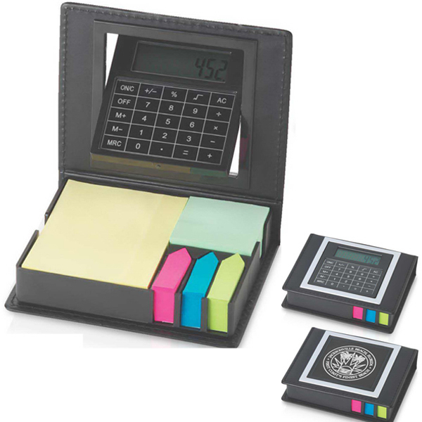 Promotional Rotating Calculator / Sticky Notes Set