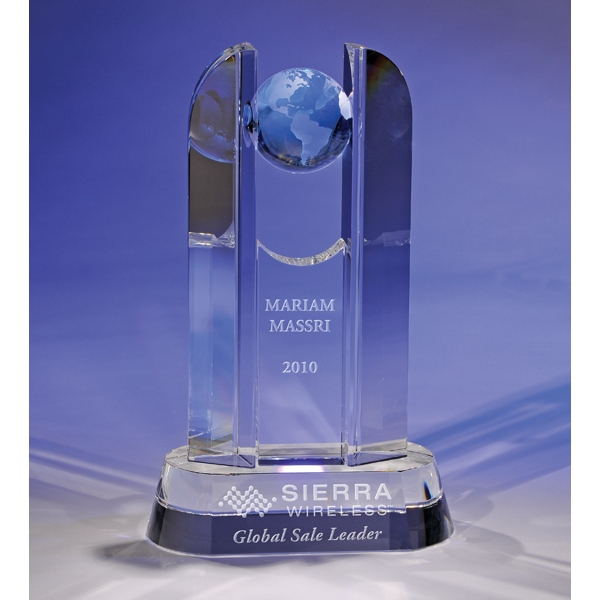 Customized Blue Crystal Award