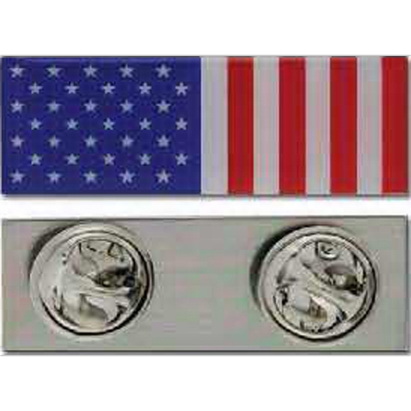 Imprinted Peace Time American Flag Pin