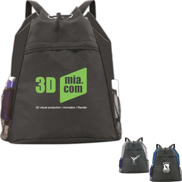 Promotional Bi-Line Drawstring Backpack