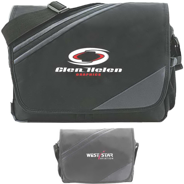 "Customized Biker Bag 15.4"" Computer Messenger Bag"