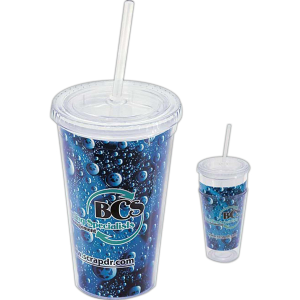 Printed Impress 16 oz Tumbler with Full-Color Paper Insert