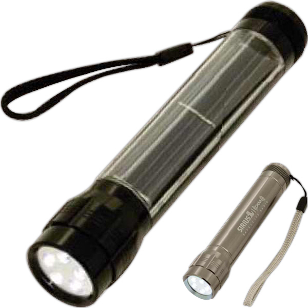 Promotional 5-LED Solar-Powered Flashlight