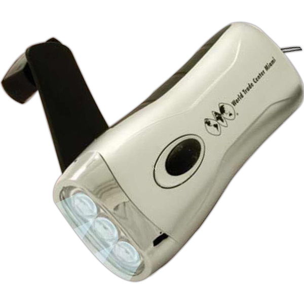 Promotional Handheld Crank 3 LED Flashlight