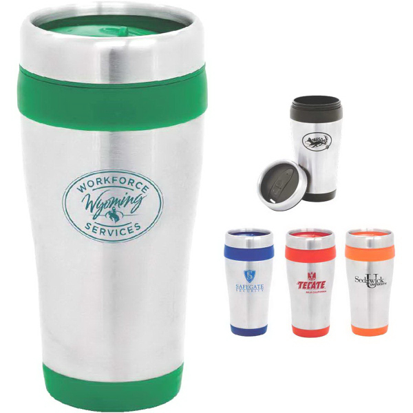 Customized Nimbus 16 oz. Stainless Steel Travel Mug with Plastic Liner