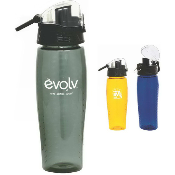 Custom Rain BPA-free 24 oz. Water Bottle with Pop-Up Lid