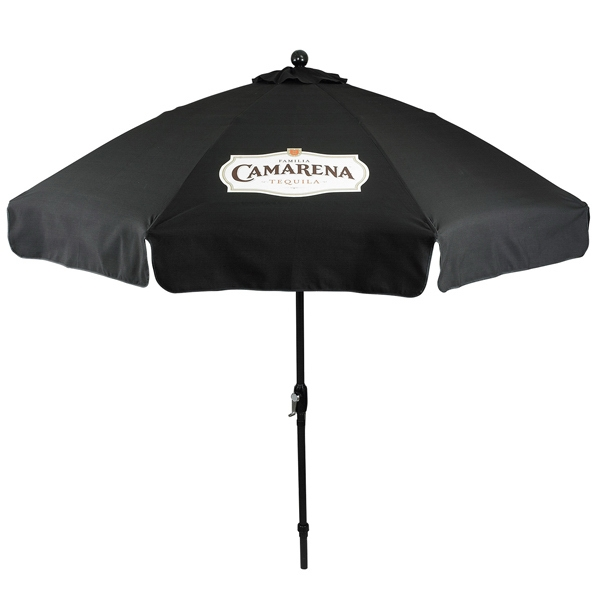 Imprinted In Stock 9 Foot Market Umbrella with Crank & Fiberglass Ribs