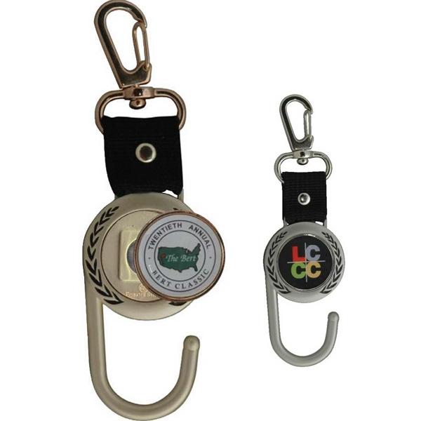 Imprinted Ball marker towel hook