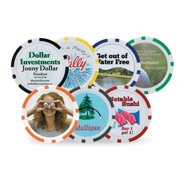 Customized Poker Chip Ball Marker