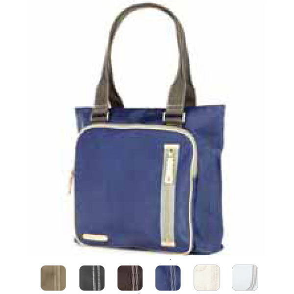 Imprinted Square pocket tote bag