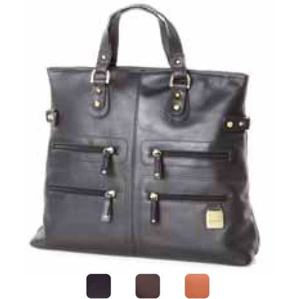Imprinted Zip pocket tote