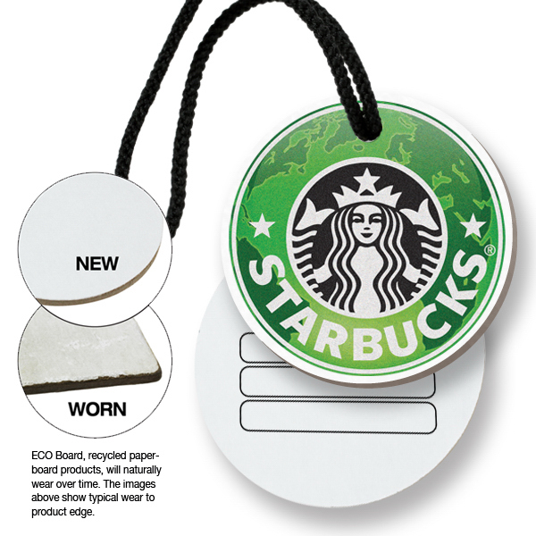 Customized ECO Bag & Luggage Tag - Round - Full Color