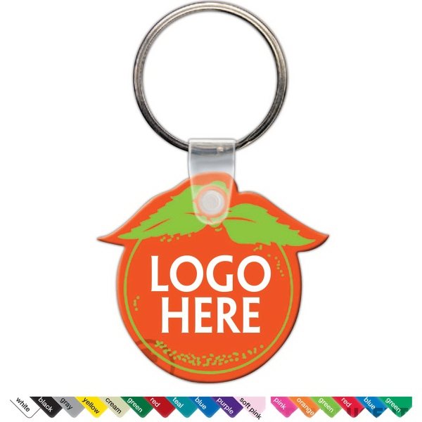 Personalized Key Tag - Orange - Spot Color