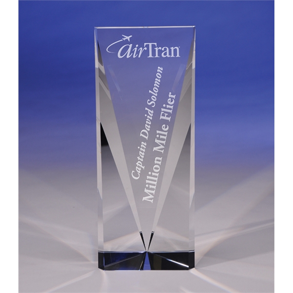 """Personalized Attainment 10"""" Crystal Award by CRYSTAL WORLD"""